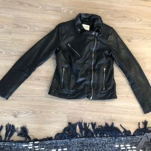 Faux Leather Abercrombie & Fitch Jacket